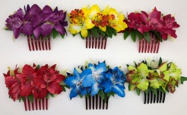 Orchid Flower Combs